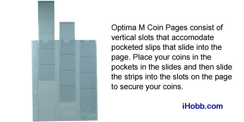 Lighthouse Optima M Sliding Coin Pages