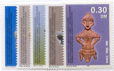 U.N. Stamps for Kosovo and UNITEA